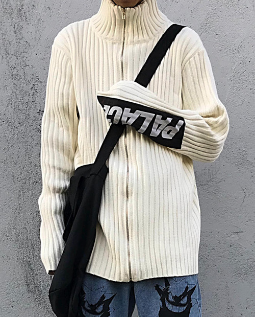 PLC ARMS PATCH KNIT CARDIGUN
