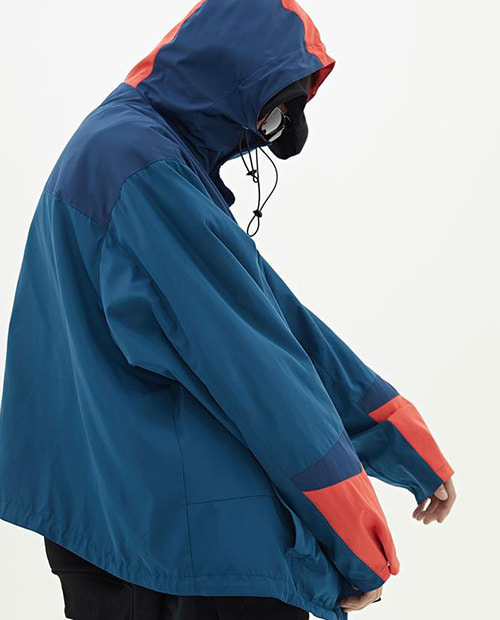 M.R MULTI COLOR WIND BREAKER BLUE VER.